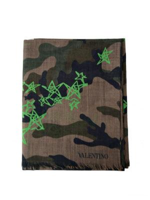 VALENTINO GARAVANI: sciarpe e foulard - Sciarpa Zandra camouflage e verde