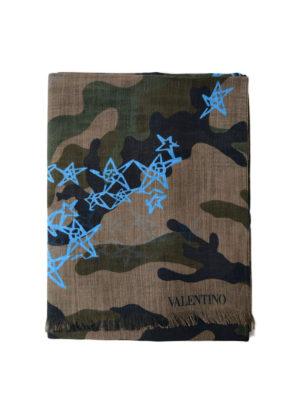 VALENTINO GARAVANI: sciarpe e foulard - Sciarpa Zandra camouflage e azzurro