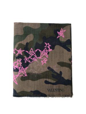 VALENTINO GARAVANI: sciarpe e foulard - Sciarpa Zandra camouflage e rosa