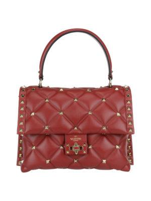VALENTINO GARAVANI: borse a spalla - Borsa Candystud in nappa rossa