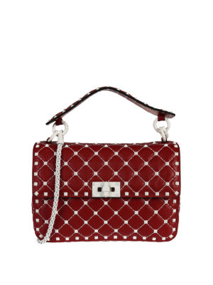 Valentino Garavani: shoulder bags - Free Rockstud Spike red bag