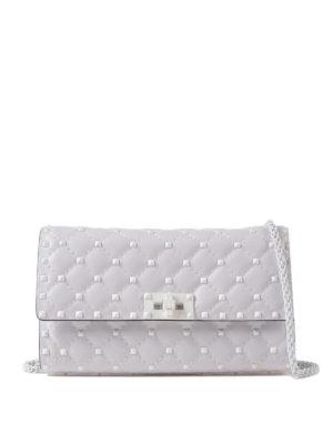 Valentino Garavani: shoulder bags - Free Rockstud Spike white bag