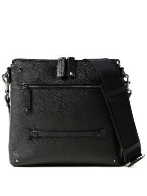 VALENTINO GARAVANI: borse a spalla - Borsa messenger in pelle nera