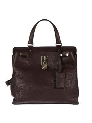 Valentino Garavani: shoulder bags - Joylock brown leather bag