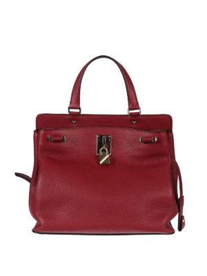 Valentino Garavani: shoulder bags - Joylock ruby red leather bag