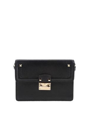 Valentino Garavani: shoulder bags - Leather bag with contrasting strap