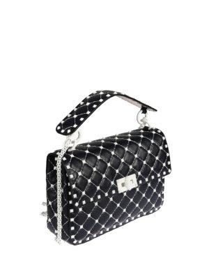 Valentino Garavani: shoulder bags online - Free Rockstud Spike blue bag