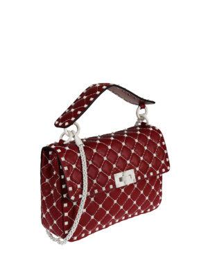 Valentino Garavani: shoulder bags online - Free Rockstud Spike red bag