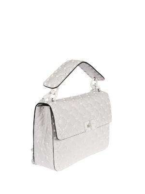 Valentino Garavani: shoulder bags online - Free Rockstud Spike white bag