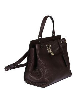 Valentino Garavani: shoulder bags online - Joylock brown leather bag