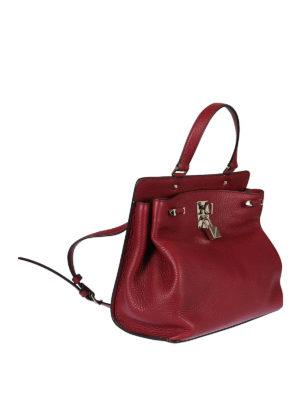 Valentino Garavani: shoulder bags online - Joylock ruby red leather bag