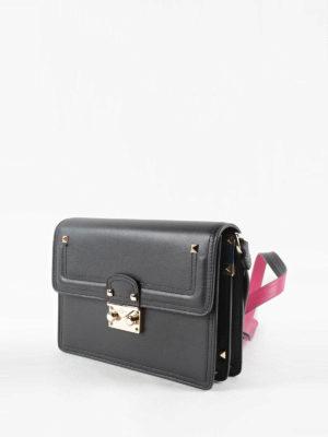 Valentino Garavani: shoulder bags online - Leather bag with contrasting strap