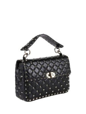 Valentino Garavani: shoulder bags online - Rockstud Spike medium quilted bag