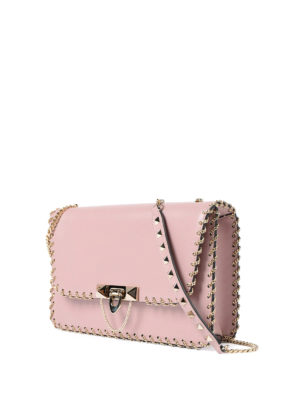 Valentino Garavani: shoulder bags online - Small chains trimmed leather bag