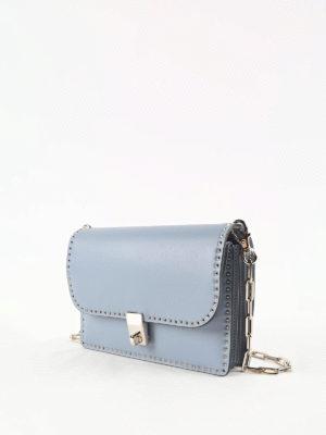 Valentino Garavani: shoulder bags online - Stud trimmed chain shoulder bag