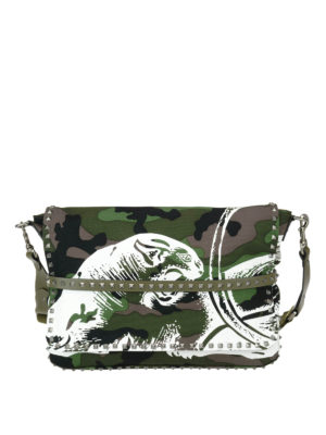 Valentino Garavani: shoulder bags - Rockstud canvas messenger