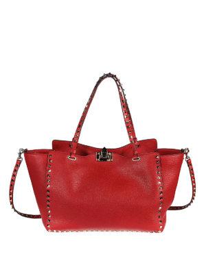 Valentino Garavani: shoulder bags - Rockstud medium red shoulder bag
