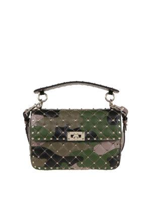 VALENTINO GARAVANI: shoulder bags - Rockstud Spike camouflage bag
