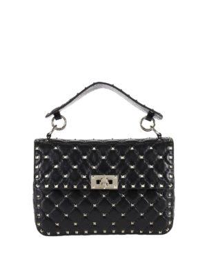 Valentino Garavani: shoulder bags - Rockstud Spike medium quilted bag