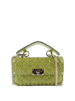 Valentino Garavani: shoulder bags - Rockstud Spike napa bag