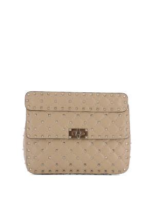 Valentino Garavani: shoulder bags - Rockstud Spike nappa bag