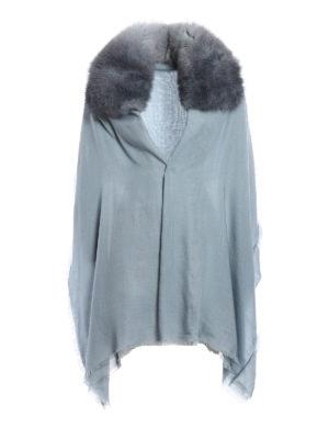 Valentino Garavani: Stoles & Shawls - Fur embellished cashmere stole