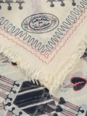 Valentino Garavani: Stoles & Shawls online - Modal and silk printed shawl