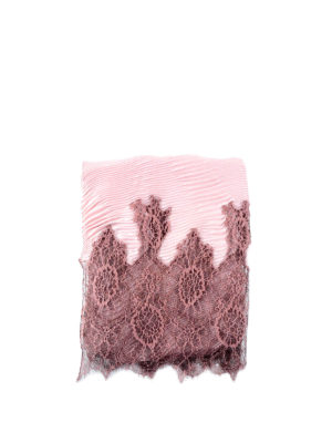 Valentino Garavani: Stoles & Shawls - Pleated shawl with floral lace