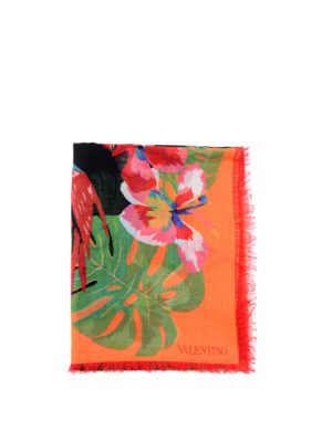 Valentino Garavani: Stoles & Shawls - Tropical Dream print shawl