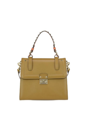 Valentino Garavani: totes bags - Cabana leather handle bag
