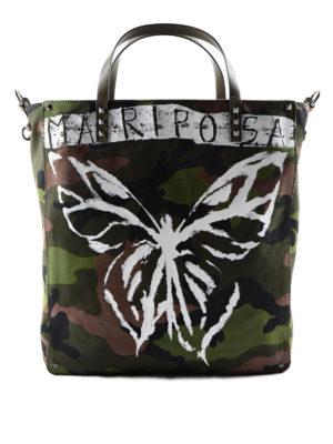 Valentino Garavani: totes bags - Mariposa camu canvas tote