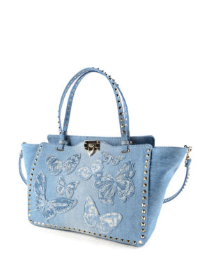 Valentino Garavani: totes bags online - Rockstud butterfly tote