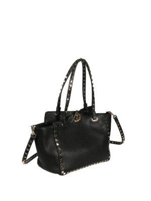 Valentino Garavani: totes bags online - Rockstud small black bag