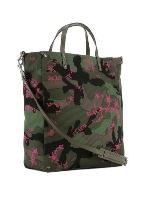 Valentino Garavani: totes bags online - Zandra pink star camu shopping bag