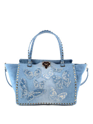 Valentino Garavani: totes bags - Rockstud butterfly tote