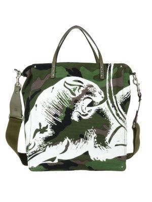 Valentino Garavani: totes bags - Rockstud canvas tote