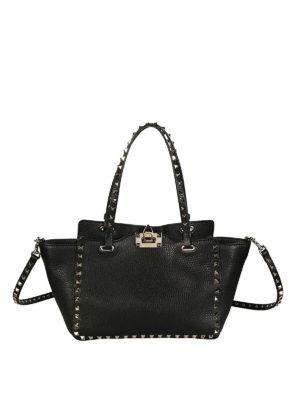 Valentino Garavani: totes bags - Rockstud small black bag
