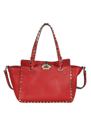 Valentino Garavani: totes bags - Rockstud small red bag