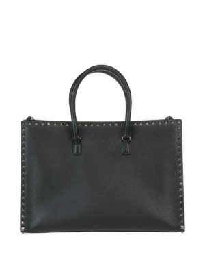 Valentino Garavani: totes bags - Studded leather tote