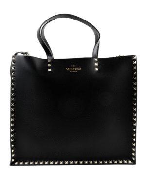 VALENTINO GARAVANI: shopper - Tote con borchie