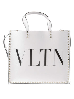 VALENTINO GARAVANI: shopper - Tote con stampa logo VLNT