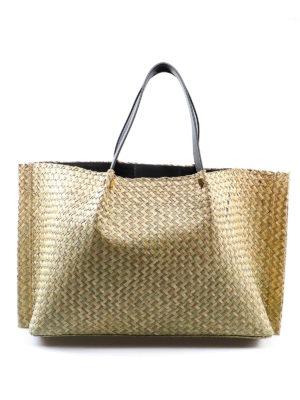 91f7e5c651 VALENTINO GARAVANI: shopper - Shopper Vlogo in paglia