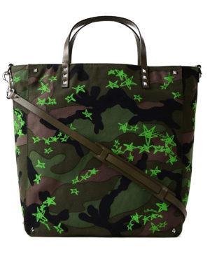 VALENTINO GARAVANI: shopper - Shopper Zandra camouflage e verde