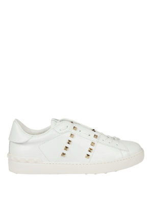 Valentino Garavani: trainers - 11.Rockstud Untitled white sneakers