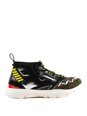 VALENTINO GARAVANI: sneakers - Sneaker alte nere Heroes Reflex