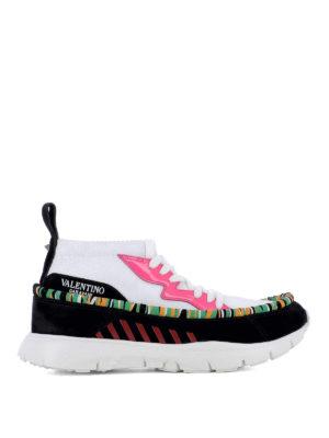VALENTINO GARAVANI: sneakers - Sneaker Heroes Tribe in tessuto