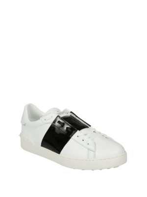 Valentino Garavani: trainers online - Open white and black sneakers