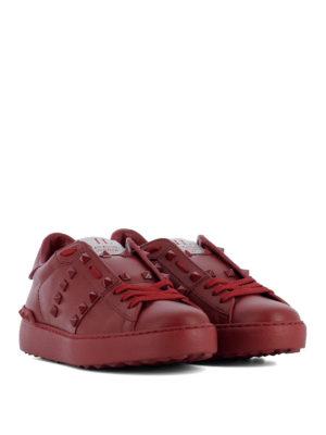 Valentino Garavani: trainers online - Red Rockstud Untitled sneakers