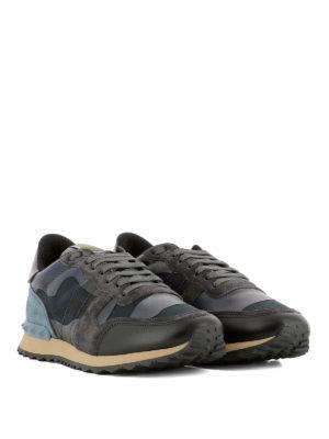 Valentino Garavani: trainers online - Rockrunner blue camu sneakers