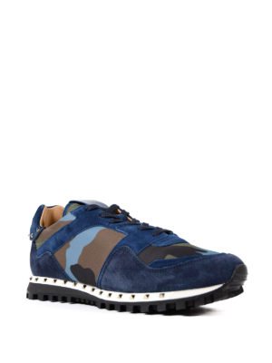 Valentino Garavani: trainers online - Rockrunner camouflage suede shoes